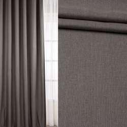 Рогожка для штор сіро-бежева, ш.300