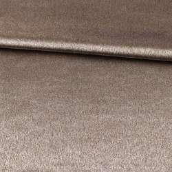 Софт блекаут меланж з блиском коричнево-сірий ш.280