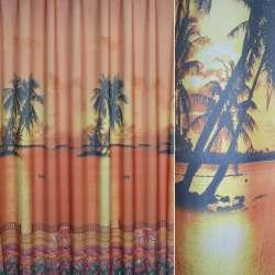 Атлас фото терракотовые пальмы, закат, тюльпаны ш.275