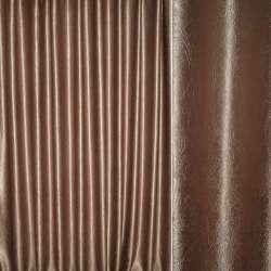 """Блэкаут коричневый светлый """"крупные завитки"""" ш.280"""