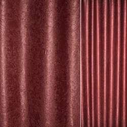 """Софт блэкаут бордовый светлый крупный """"испанский дворик"""" ш.280"""