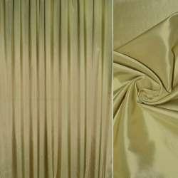 тафта порт. зелена з золотим відливом гладка, ш.280