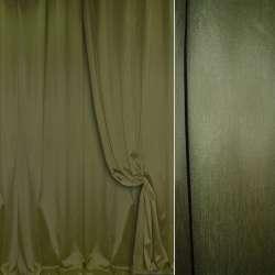 Шелк портьерный искусственный темно-зеленый ш.280