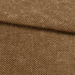 Рогожка шенилловая блэкаут 80% коричневая светлая, ш.280