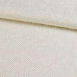 Рогожка шенилловая блэкаут жемчужно-белая ш.280
