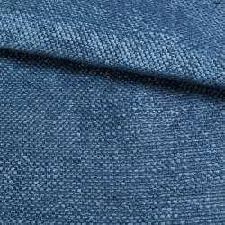 Рогожка шенилловая блекаут лазурно-синяя ш.280