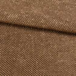 Рогожка шенилловая блэкаут коньячно-коричневая ш.280