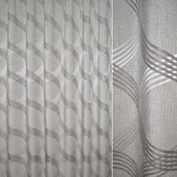 Жаккард портьерный серый светлый с пересекающимися овалами, ш.270