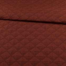Стьобана тканина інтер'єрна ромби темно-сірий / теракотовий, ш.140