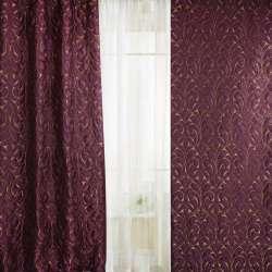 Фукраорнамент тонкий великий латунний на фіолетовому темному тлі, ш.130
