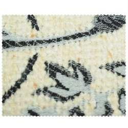 тканину оббивна молочна з сіро-чорними кольорами
