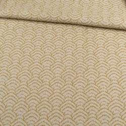Жакард меблевий на клейовій основі хвилі пісочно-гірчичний, ш.142