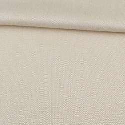 Рогожка інтер'єрна твідова ялинка пісочний, ш.142
