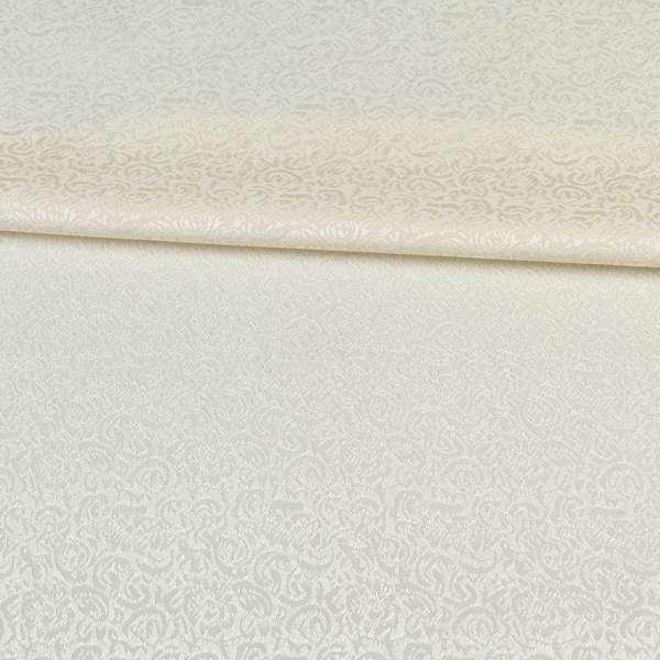 Жаккард скатерковий дрібні квітки молочний, ш.320
