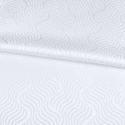 Жаккард скатерковий хвилі білий, ш.320