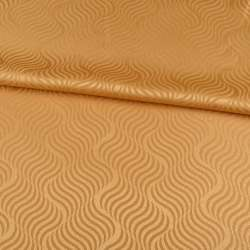 Жаккард скатертный волны золотисто-желтый, ш.320