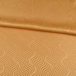 Жаккард скатерковий хвилі золотисто-жовтий, ш.320
