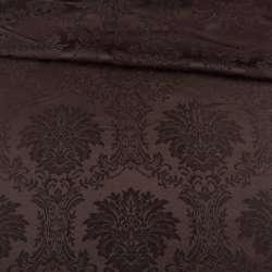 Жаккард скатерковий вензелі коричневий, ш.320