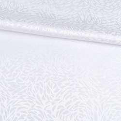 Жаккард скатертный розы белый, ш.320