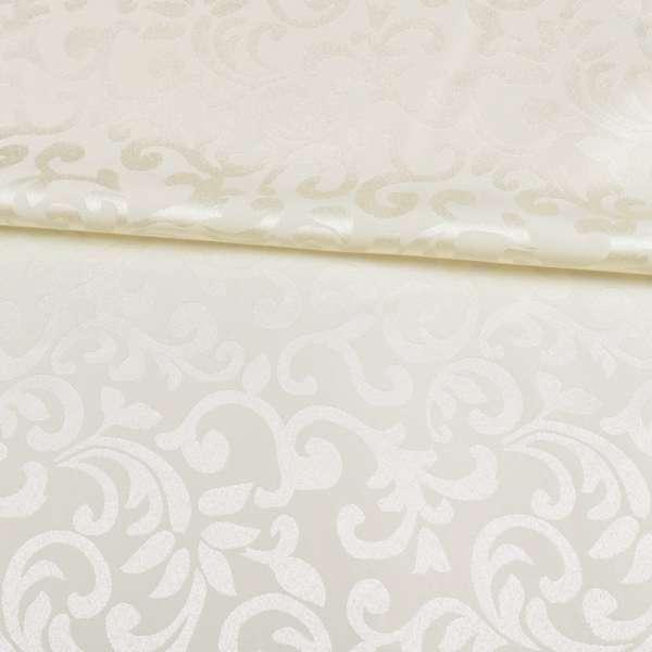 Жаккард скатерковий рослинний вензель молочний, ш.320