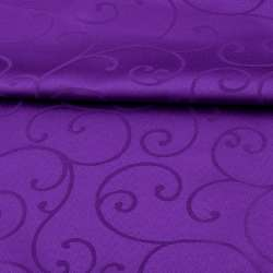 Жаккард скатерковий завитки фіолетовий, ш.320