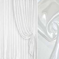 Атлас портьерный белый с серым оттенком ш.280