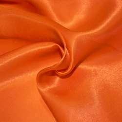 Атлас для штор оранжево-червоний, ш.280