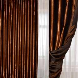 Атлас портьерный хамелеон шоколадно-черный ш.280