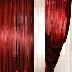 Атлас портьерный хамелеон бордово-черный ш.280