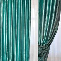 Атлас портьерный хамелеон бирюзово-черный ш.280