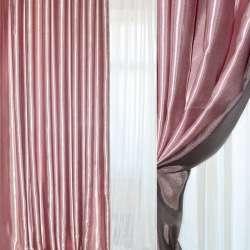 Атлас портьерный хамелеон розово-черный ш.280