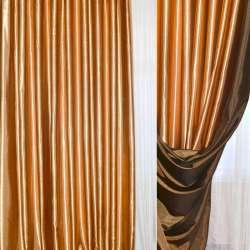 Атлас портьерный хамелеон темное-золото с черным ш.280
