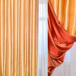 Атлас портьерный хамелеон золотисто-оранжевый ш.270