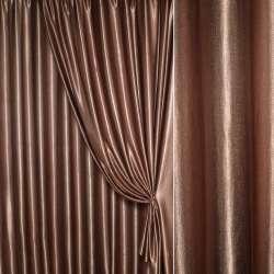 Ультра портьерная коричневая с розовым оттенком, ш.280