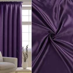 Атлас матовий для штор фіолетовий, ш.300