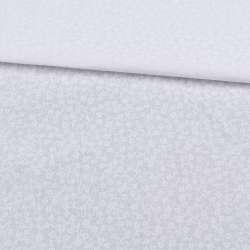 Бязь набивная белая в мелкие белые цветы, ш.220
