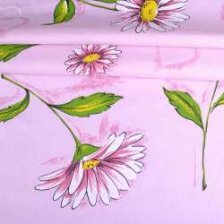 бязь набив. розовая с ромашками и сердцами ш.220