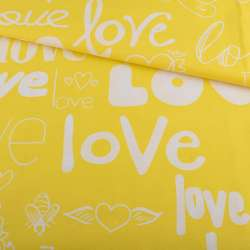 Бязь набивна жовта LOVE ш.220