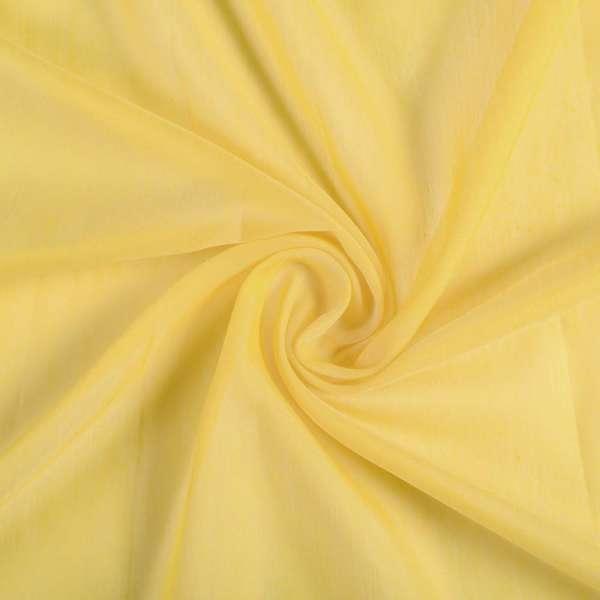Батист гардинный желтый яркий с утяжелителем Германия, ш.300