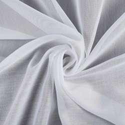 Батист гардинный белый в широкую белую полоску Германия, ш.300