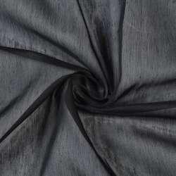 Батист гардини чорний, з обважнювачів, ш.300