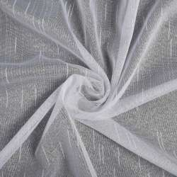 Креп-тюль белая с уплотненными нитями с утяжелителем, ш.255