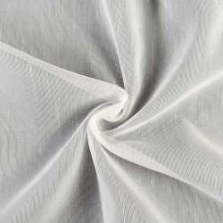 Креп-тюль молочный в штрихи с утяжелителем, ш.260