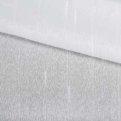Вуаль белая в ниточные полоски с уплотнениями, с утяжелителем, ш.150