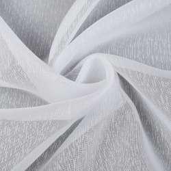 Вуаль біла в густі ниткові смужки, обважнення, ш.260