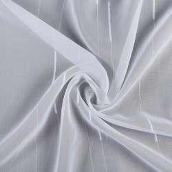 Вуаль біла вузькі смужки з ущільненої шовковою ниткою з обважнювачем Німеччина,