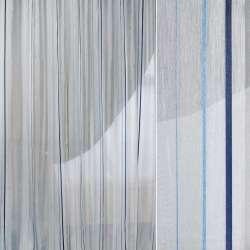 Вуаль белая с жаккардовыми синими полосками Германия ш.300