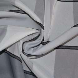 Вуаль белая с атласными серыми полосками Германия ш.150