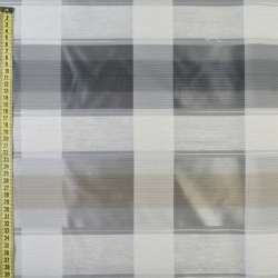 Тафта гард + вуаль молочно-серая, микросетка + кристал. полоски, ш.150