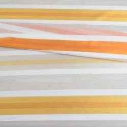Вуаль белая с разноцветными атласными полосками без утяжелителя (ассорти), ш148